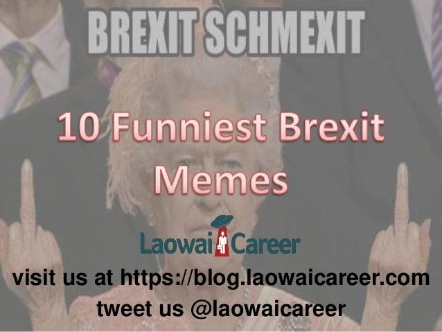 10 Funniest Brexit Memes