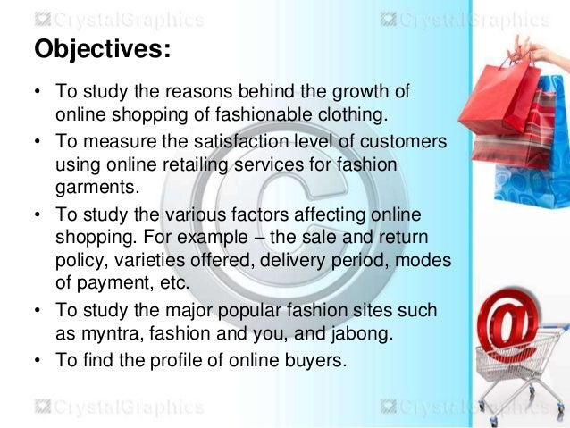 online shopping objective The objective of this study is to provide an overview of online shopping decision process by comparing the offline and online decision making and identifying the factors that motivate online customers to decide or not to decide to buy online.