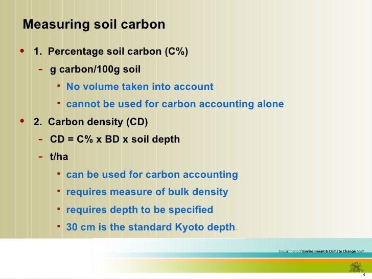 How do we estimate soil carbon levels for 0 4 soil carbon