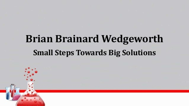 Brian Brainard Wedgeworth Small Steps Towards Big Solutions