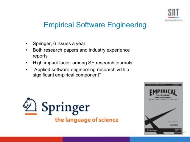 research paper software engineering 2013-04-25  issues in informing science and information technology volume 10, 2013 project management principles applied in academic research projects pollyana notargiacomo mustaro & rogério rossi mackenzie presbyterian university, são.