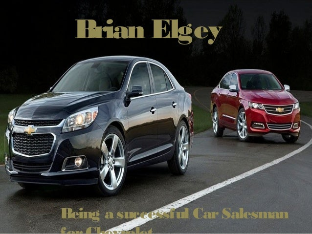 Brian Elgey Being a successful CarSalesman