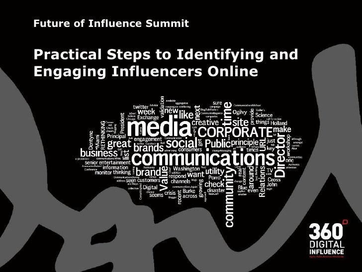 Future of Influence Summit   Practical Steps to Identifying and Engaging Influencers Online