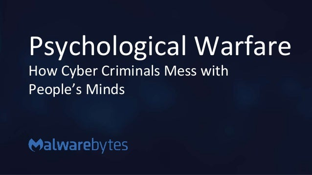 Brian Henger - Psychological Warfare: How Cyber Criminals Mess With Y…