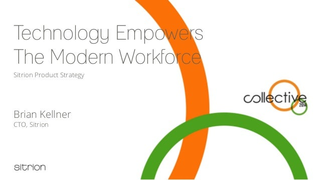 Technology Empowers The Modern Workforce Brian Kellner CTO, Sitrion Sitrion Product Strategy