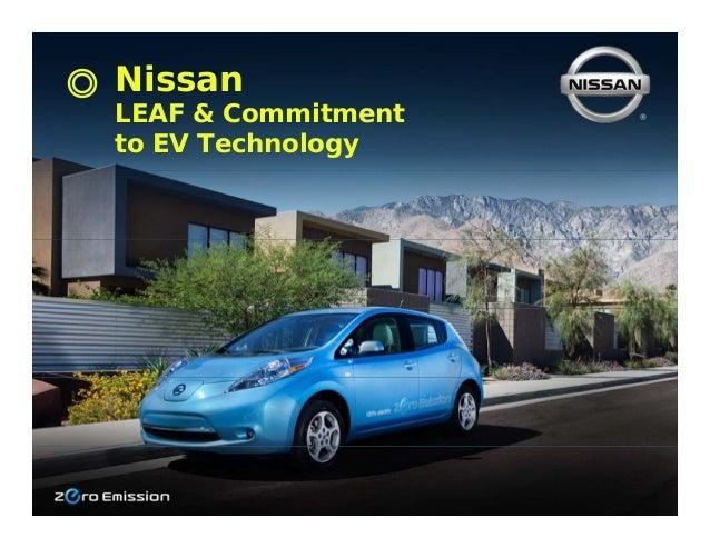 NissanLEAF & Commitmentto EV Technology