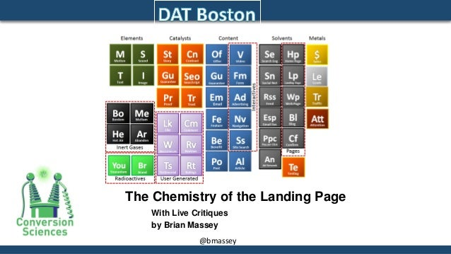 @bmassey  The Chemistry of the Landing Page  With Live Critiques  by Brian Massey