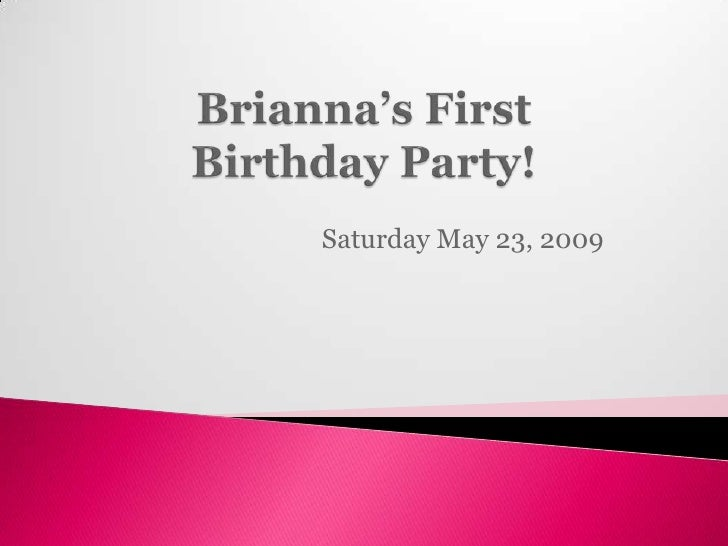 Saturday May 23, 2009