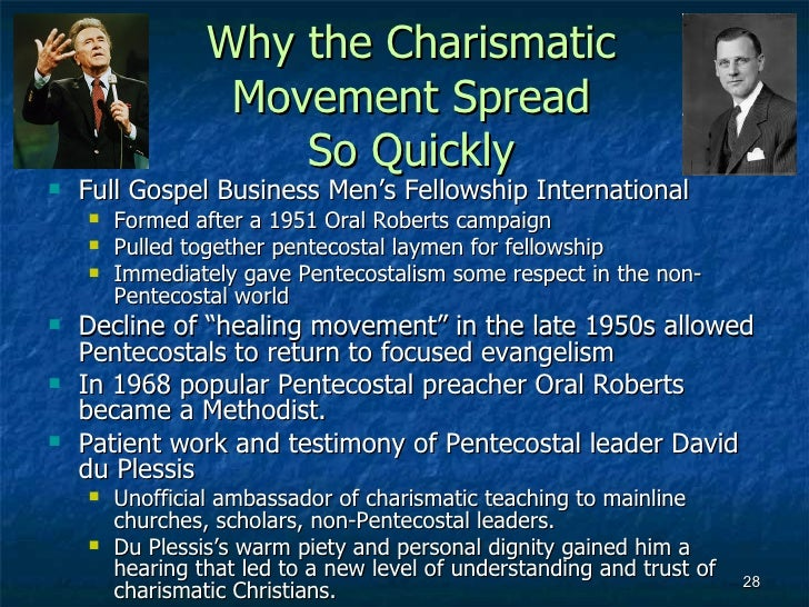 a comparison of the pentecostal and charismatic christians The explosive growth of pentecostal-charismatic  hundred million pentecostal and charismatic christians,  in the south in comparison to the.