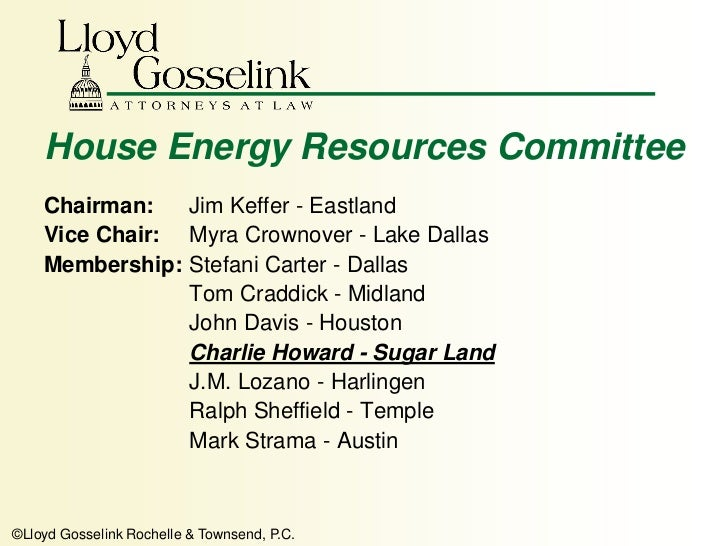 Committee On Natural Resources Tx