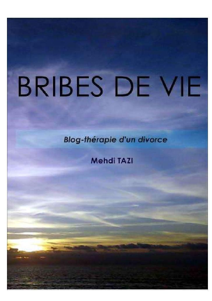 Mehdi TAZI     BRIBES DE VIE   Blog-thérapie d'un divorce          TheBookEdition      TheBookEdition.com                -...
