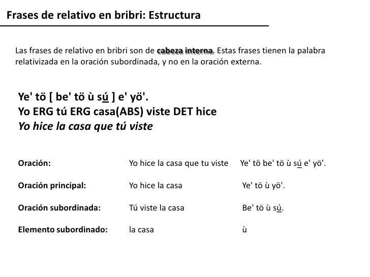 Rean Lisis De Las Cl Usulas Relativas En La Lengua Bribri