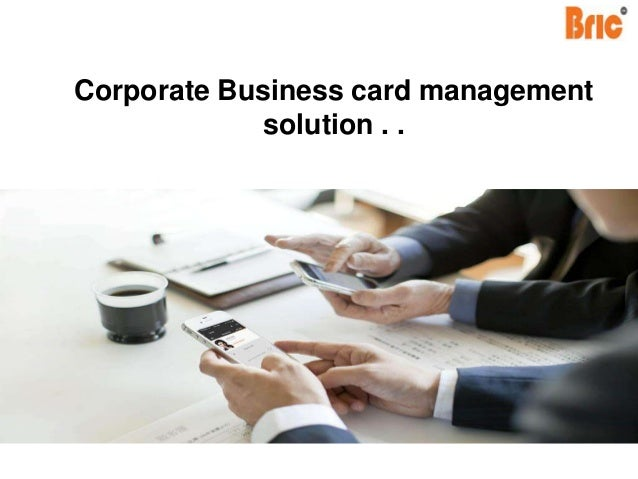 Bric app business card scanner manager colourmoves