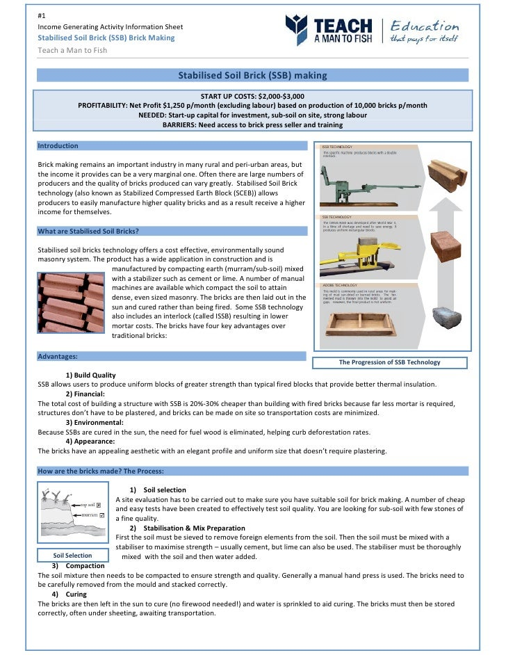 A Sample Brick Making Plant Business Plan Template