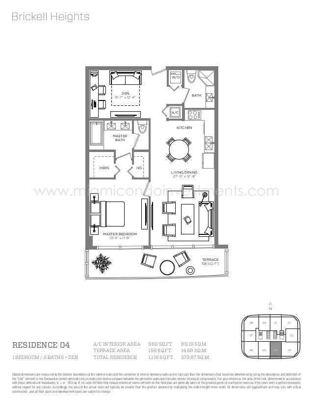 Brickell Heights Floor Plans