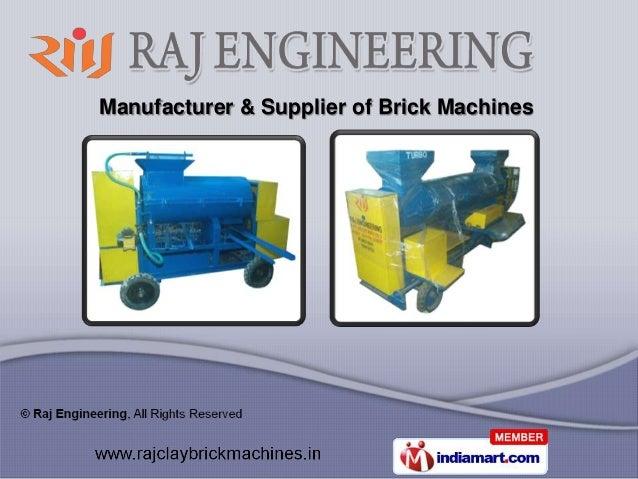 Manufacturer & Supplier of Brick Machines