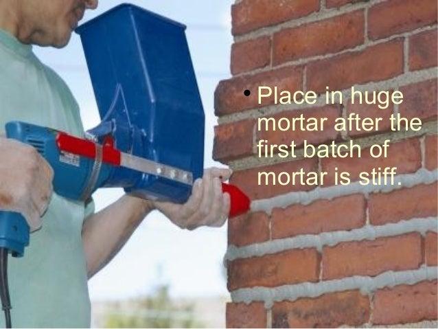 Brick Repointing Process