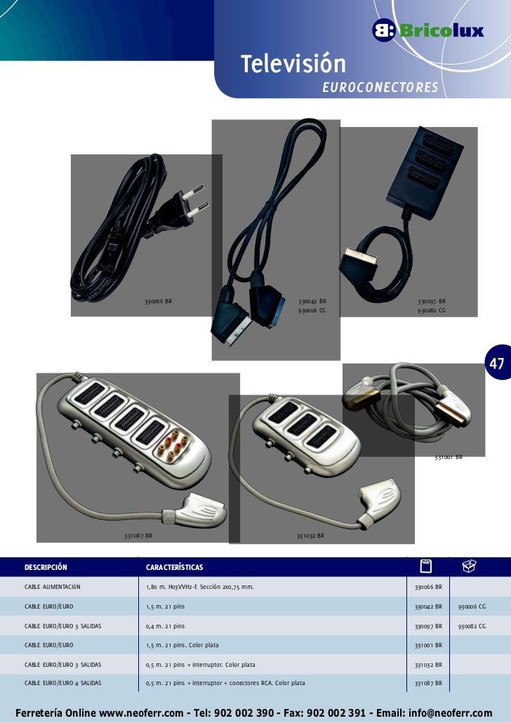 Cable de alimentaci/ón el/éctrica tipo HO3VVH2-F con 2 hilos de 0,75 mm2,/marr/ón /10/m