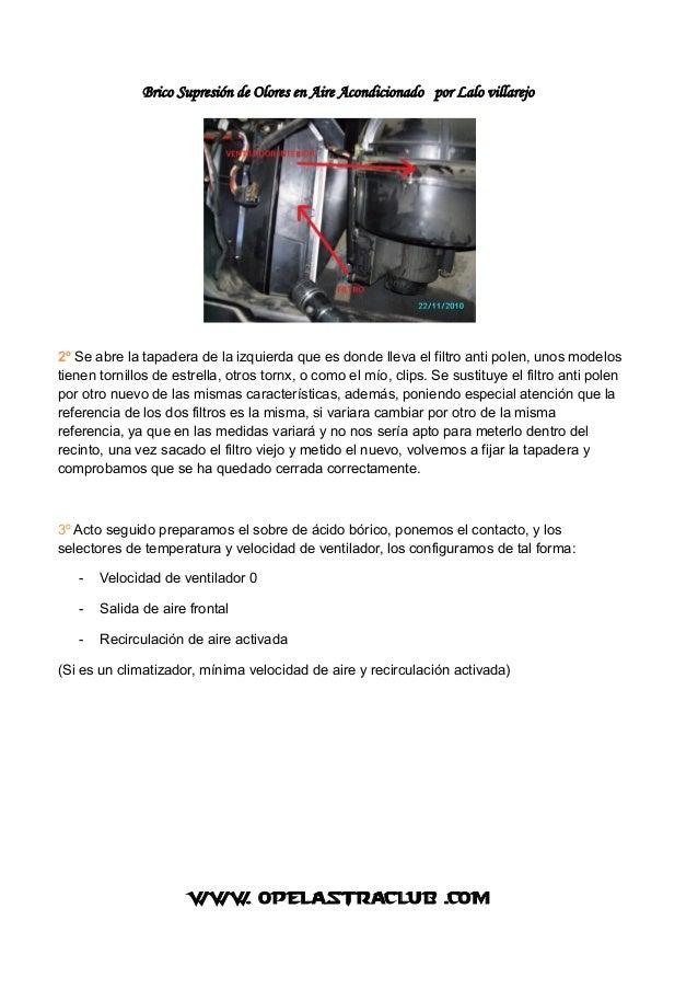 Brico supresión de olores en aire acondicionado Slide 2