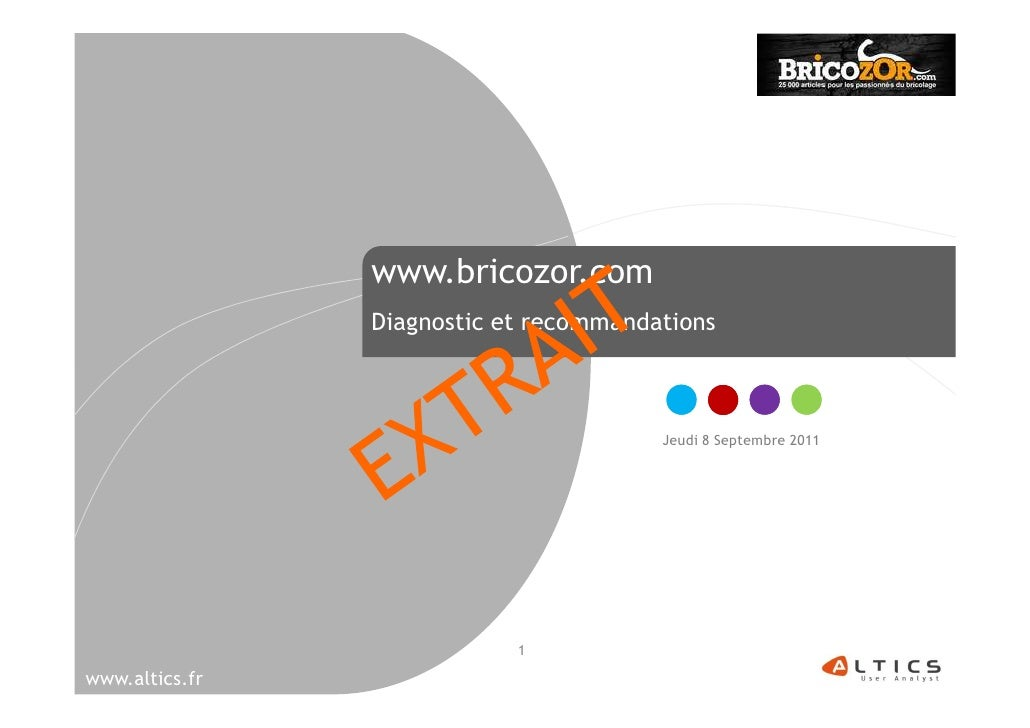 www.bricozor.com                Diagnostic et recommandations                                        Jeudi 8 Septembre 201...