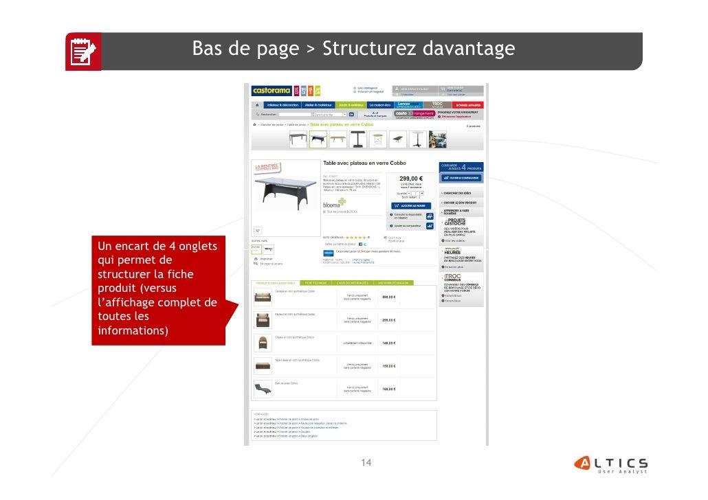 Bas de page > Structurez davantageUn encart de 4 ongletsqui permet destructurer la ficheproduit (versusl'affichage complet...