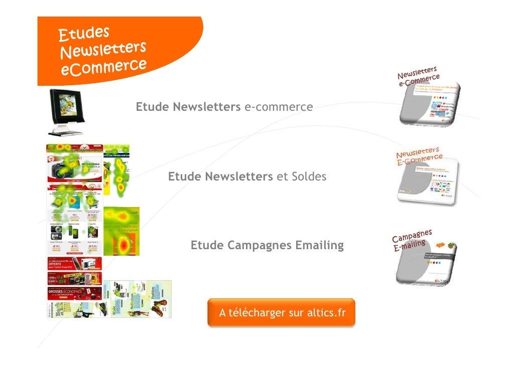 Etude Newsletters e-commerce          Etude Newsletters et Soldes             Etude Campagnes Emailing                  A ...