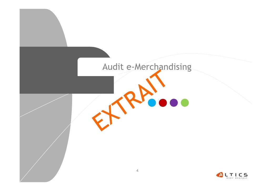 Audit e-Merchandising       4