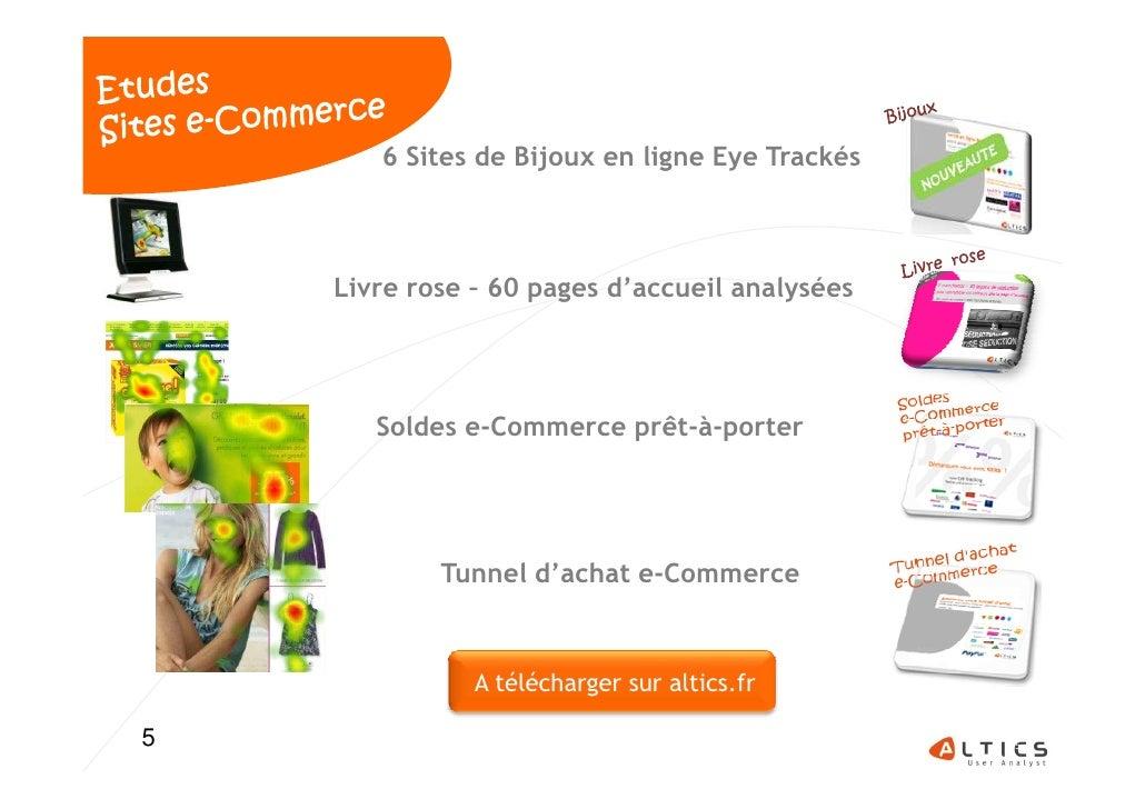 6 Sites de Bijoux en ligne Eye Trackés    Livre rose – 60 pages d'accueil analysées       Soldes e-Commerce prêt-à-porter ...