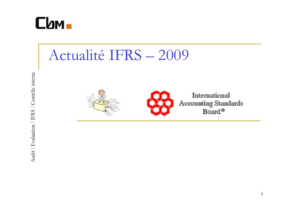 Actualité IFRS – 2009                        1