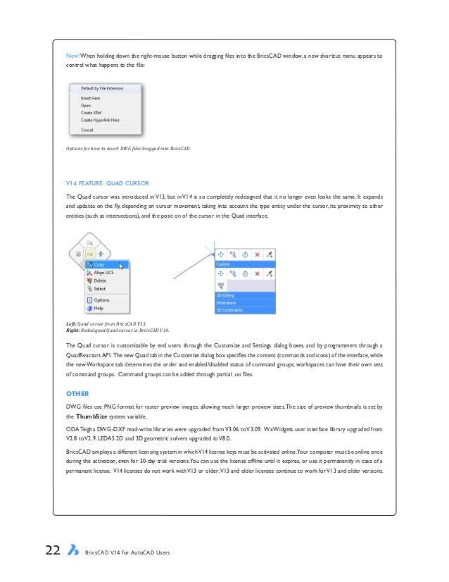 Free eBook: BricsCAD V14 for AutoCAD Users