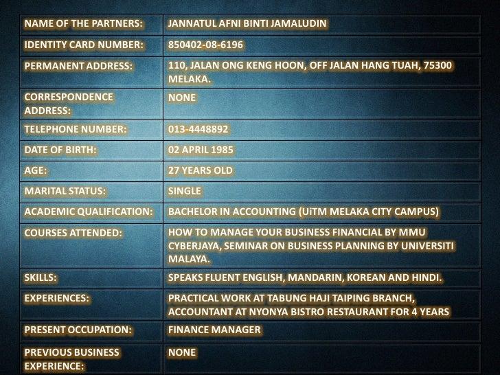 LAVADORA BUSINESS PLAN