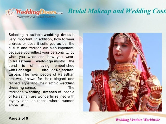 c3e0793541 Bridal Makeup and Wedding Costumes of Rajasthani Marriage; 2. Bridal ...