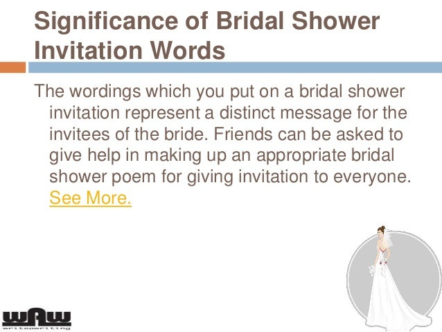 3 significance of bridal shower