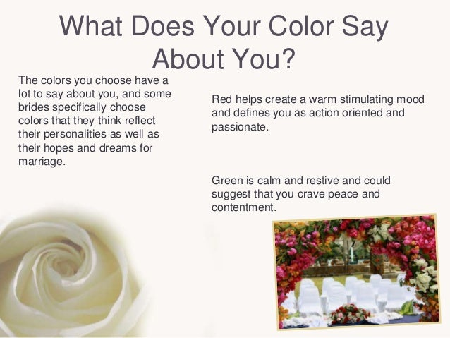 Colors And The Moods They Create how to choose and use the right wedding colors