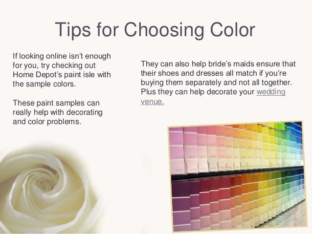 How To Choose And Use The Right Wedding Colors