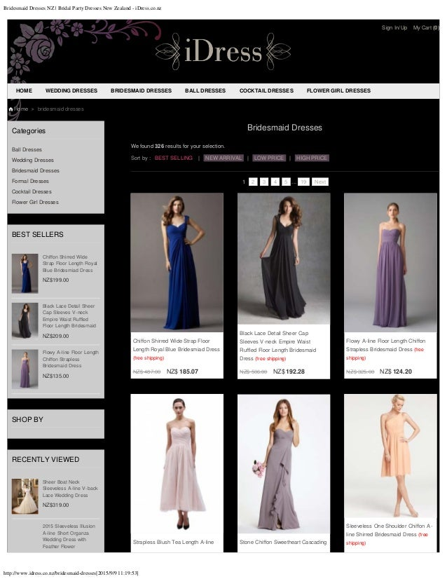 Bridesmaid Dresses NZ | Bridal Party Dresses New Zealand - iDress.co.nz http://www.idress.co.nz/bridesmaid-dresses[2015/9/...