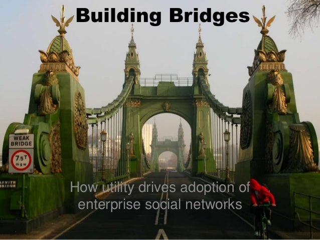 How utility drives adoption of enterprise social networks Building Bridges