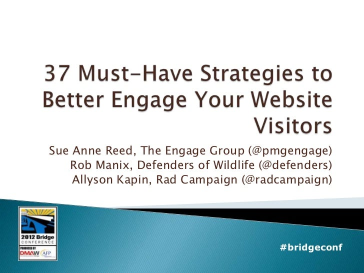 Sue Anne Reed, The Engage Group (@pmgengage)   Rob Manix, Defenders of Wildlife (@defenders)    Allyson Kapin, Rad Campaig...