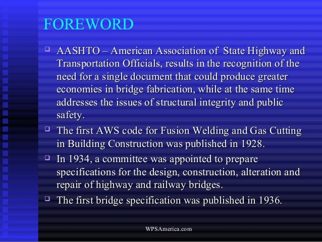 AWS D1.5 Bridge Welding Code