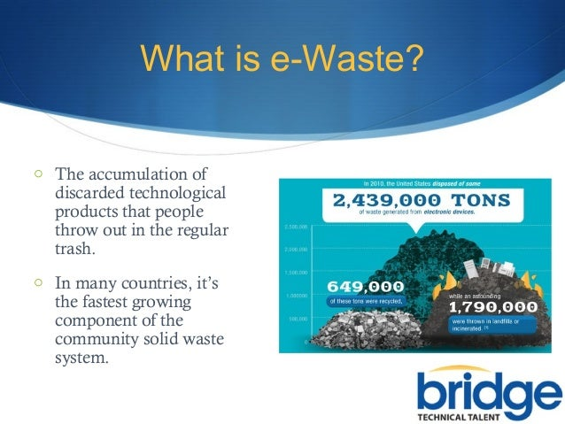 importance of recycling electronic waste essay The process of waste paper recycling most often involves mixing used/old paper with water and  the history of paper recycling has several dates of importance.