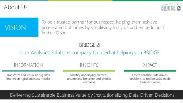 BRIDGEi2i Analytics Solutions - B2C Customer Intelligence Slide 2