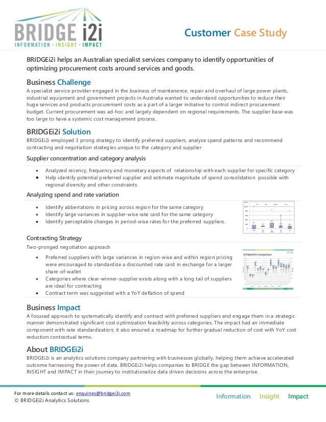 Customer Case Study     BRIDGEi2i helps an Australian specialist services company to identify opportunities of     optimiz...