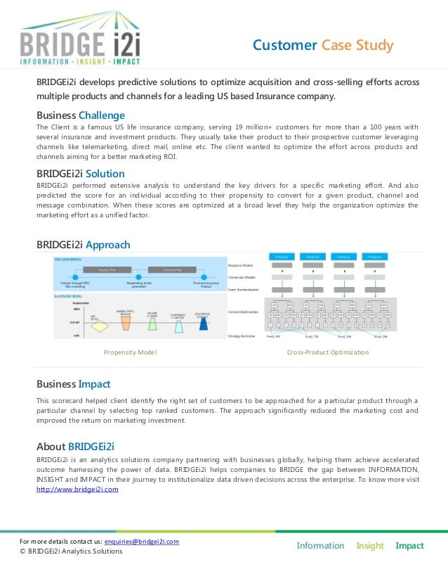 Customer Case Study BRIDGEi2i develops predictive solutions to optimize acquisition and cross-selling efforts across multi...