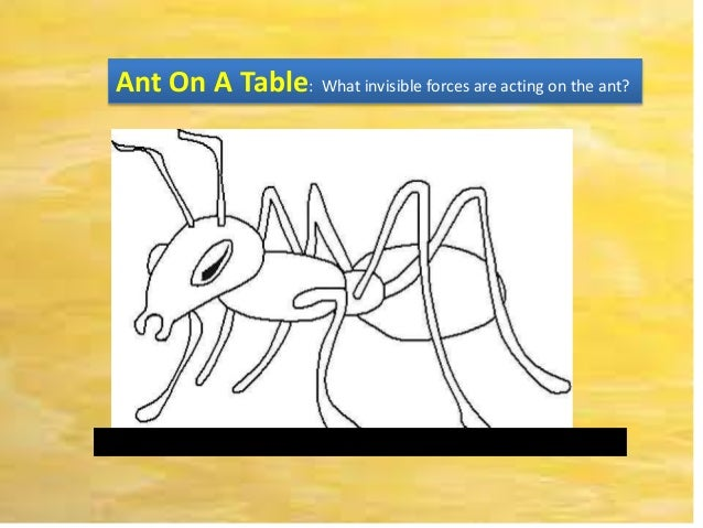 Ant On A Table: What invisible forces are acting on the ant?___________________________________________________________
