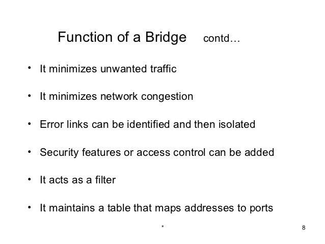 Bridges and gateways 52