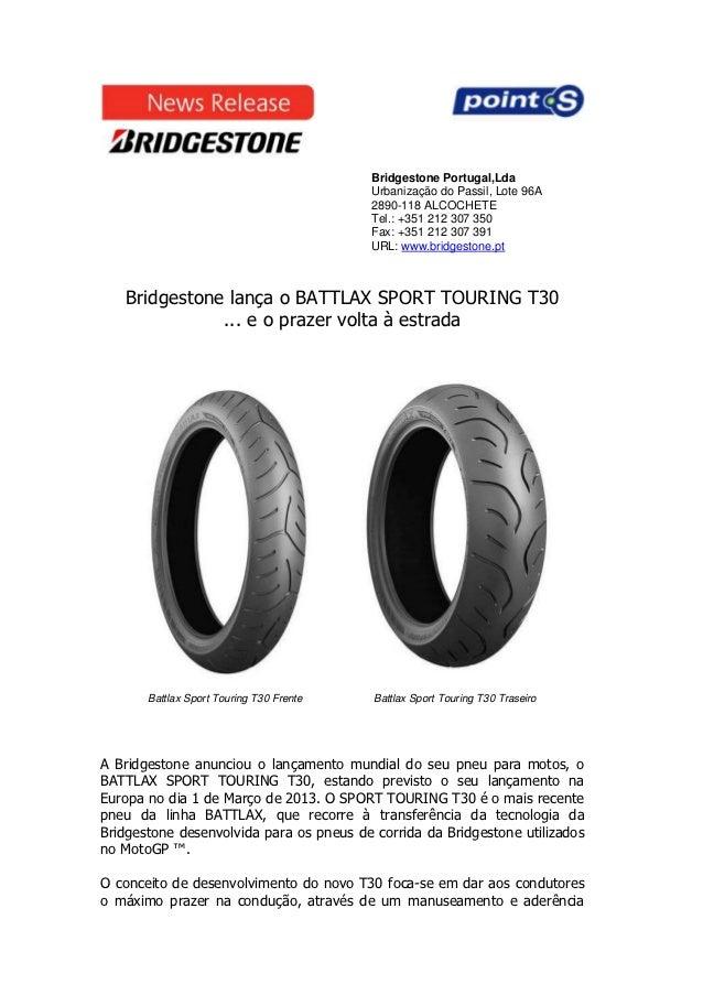Bridgestone Portugal,Lda                                          Urbanização do Passil, Lote 96A                         ...