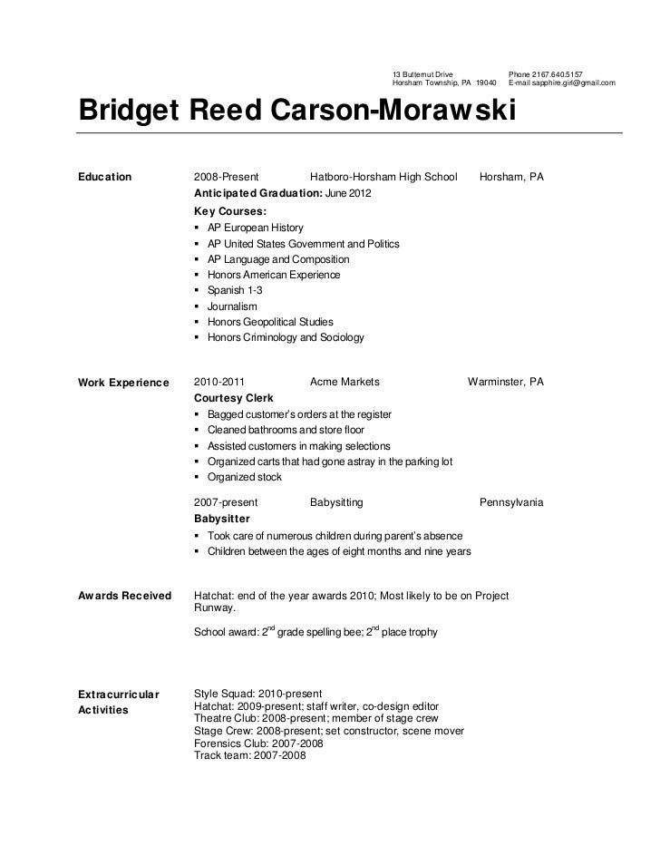 bridgets-resume-1-728 Sample Curriculum Vitae For Biologist on offer letter, medical doctor, for accountant partner, science research, for professional contract, for phd, for administrative assistant, graduate school,