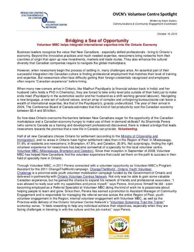 OVCN's Volunteer Centre Spotlight Written by Kevin Sutton, Communications & Community Engagement Coordinator October 10, 2...