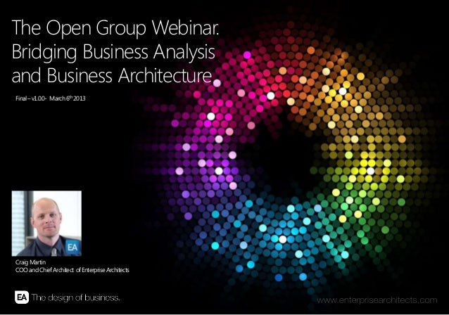   BRIDGING BUSINESS ANALYSIS AND BUSINESS ARCHITECTURE   ENTERPRISE ARCHITECTS © 201 31 The Open Group Webinar. Bridging B...