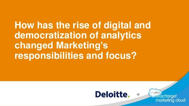 How has the rise of digital and democratization of analytics changed Marketing's responsibilities and focus?